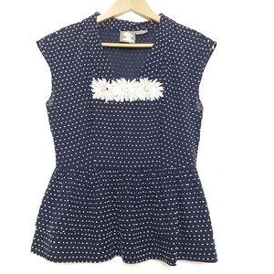 Anthropologie    Girls from Savoy peplum blouse